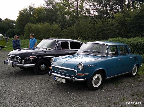 Tschechisches Gipeltreffen mit Tatra 603 1963 und Skoda 1000MB 1967