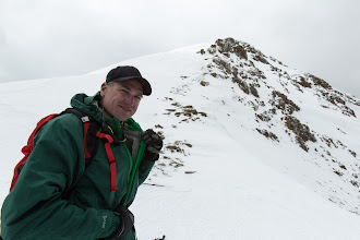 Photo: Garry admires the view; behind him is the ridge up Lungser Kangri, although the summit is still a bit behind the top point here.