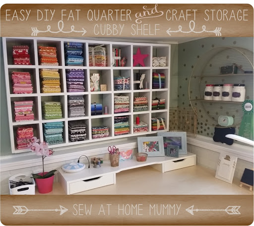 Easy Cubby Shelf Fat Quarter Fabric Storage Ideas