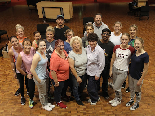 ome of the dance stars and their teachers at rehearsal last night, back from left, Nick McClure, Will Childs, second back row, Kylie Kelly, Nikki Shields, Natasha Cooper, Kim Owens, Alex Christakos, Jackson Mudford, Sarah Cameron, Kim Campbell, front, Kelly Fry, Donna Bower, Chelsea Wheeler, Jenny Wilson, Cathy Redding, Di Browning, Kayla Langfield and Lara Richardson.