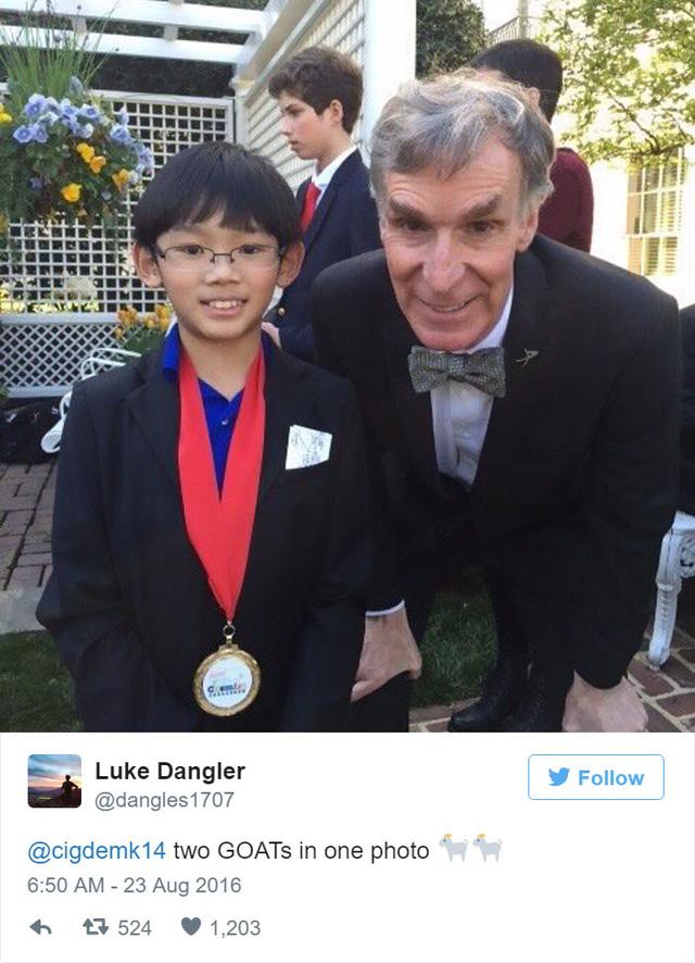 Cậu bé đã từng được gặp những người nổi tiếng như Bill Nye