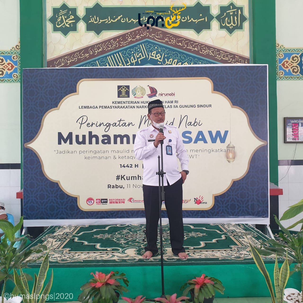 Lapas Narkotika Gunung Sindur Peringati Maulid Nabi Muhammad SAW 1442 Hijriah
