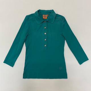 Tory Burch Teal Polo Shirt