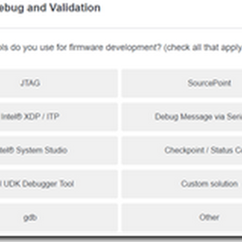 Intel's EDKII & UEFI Developer Survey Now Open
