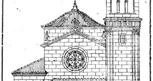 Fachada principal del proyecto de restauración del templo de Santo Domingo.