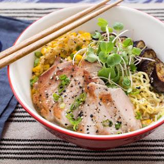 Pork Ramen with Fresh Ramen Noodles & Summer Vegetables