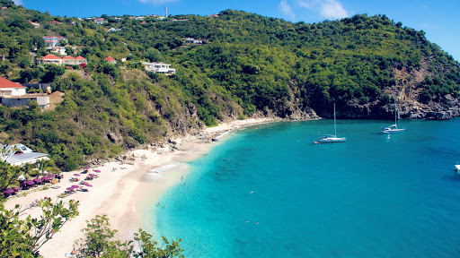 Shell Beach on St. Barts in the Caribbean.