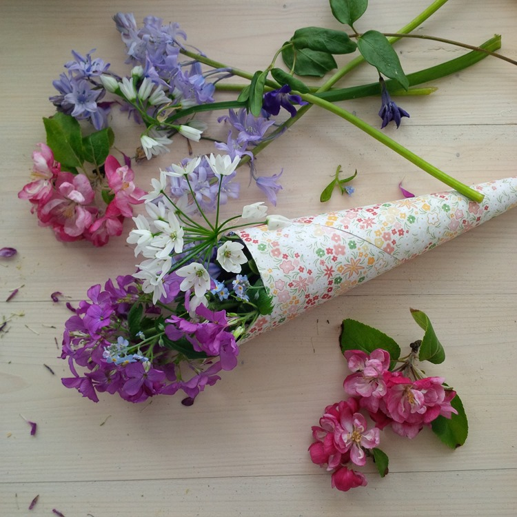 May Day wildflower posy