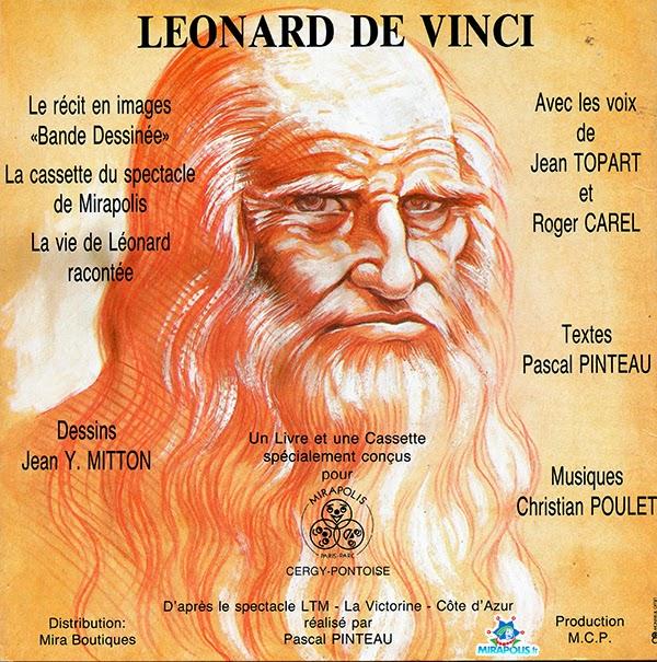 Dos de la BD Leonard de Vinci vendue a Mirapolis
