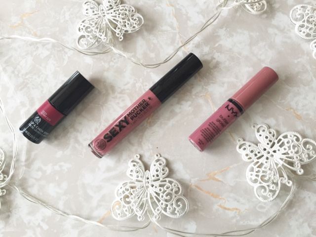 round up, lip, products, makeup, nyk, soap and glory, bosyshop, lip gloss, lip stain