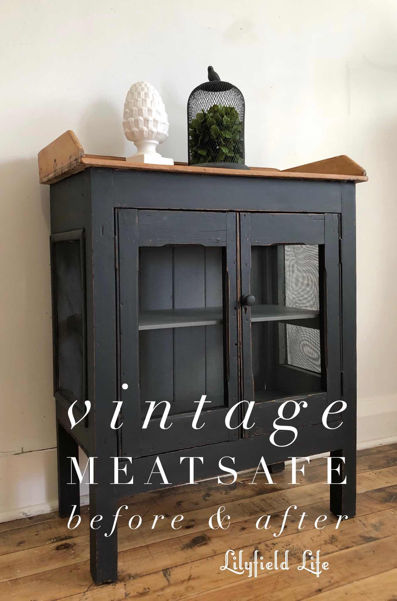 painted vintage meat safe Lilyfield Life - ASCP Graphite
