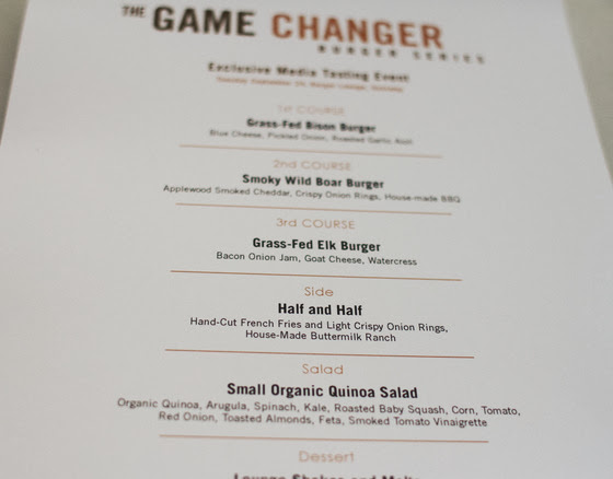 Burger Lounge's Game Changer Burger Series
