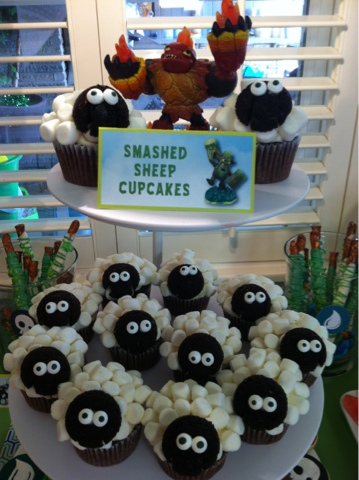 Sweet Shindigs Skylander Sheep Cupcakes