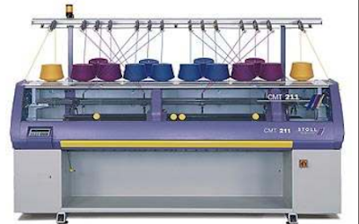 Máquina de tejido de punto rectilínea