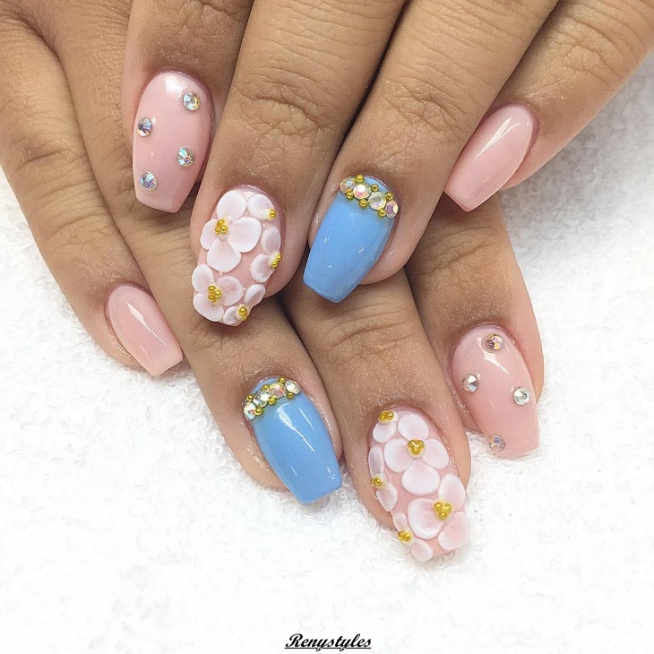 3d flowers nail designs 2017 2018 reny styles