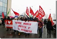 Manifestazione lavoratori MediaWorld