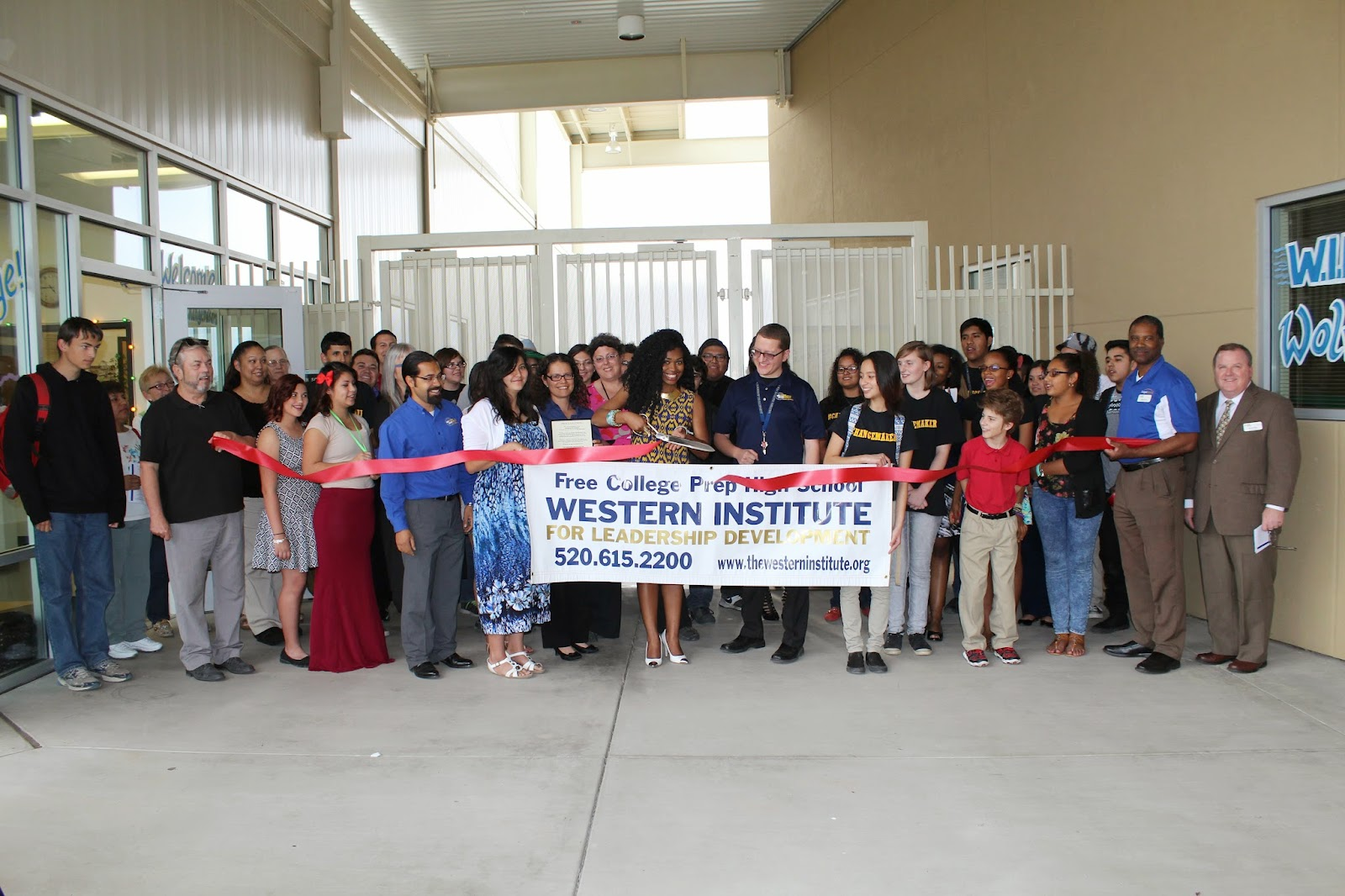 Western Institute High School's ribbon cutting occurred at the Changemaker Fair. Students pitched social venture projects. Judges including Autumn Williams, Director of Ashoka's Changemaker Schools Network and Juan Ciscomani, Director of the Governor's Southern Arizona office, awarded prizes. Public donations supported students' projects. Results were celebrated at their May Exhibition.  The Western Institute for Leadership Development 1300 S. Belvedere Avenue, 85711 (520) 615-2200