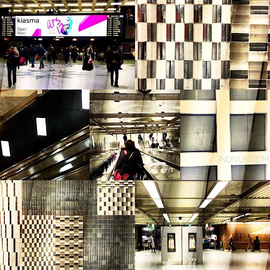 Helsingin Rautatientorin metroasema -kollaasi