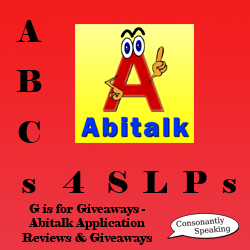 ABCs 4 SLPs: G is for Giveaways - Abitalk Application Reviews and Giveaways image