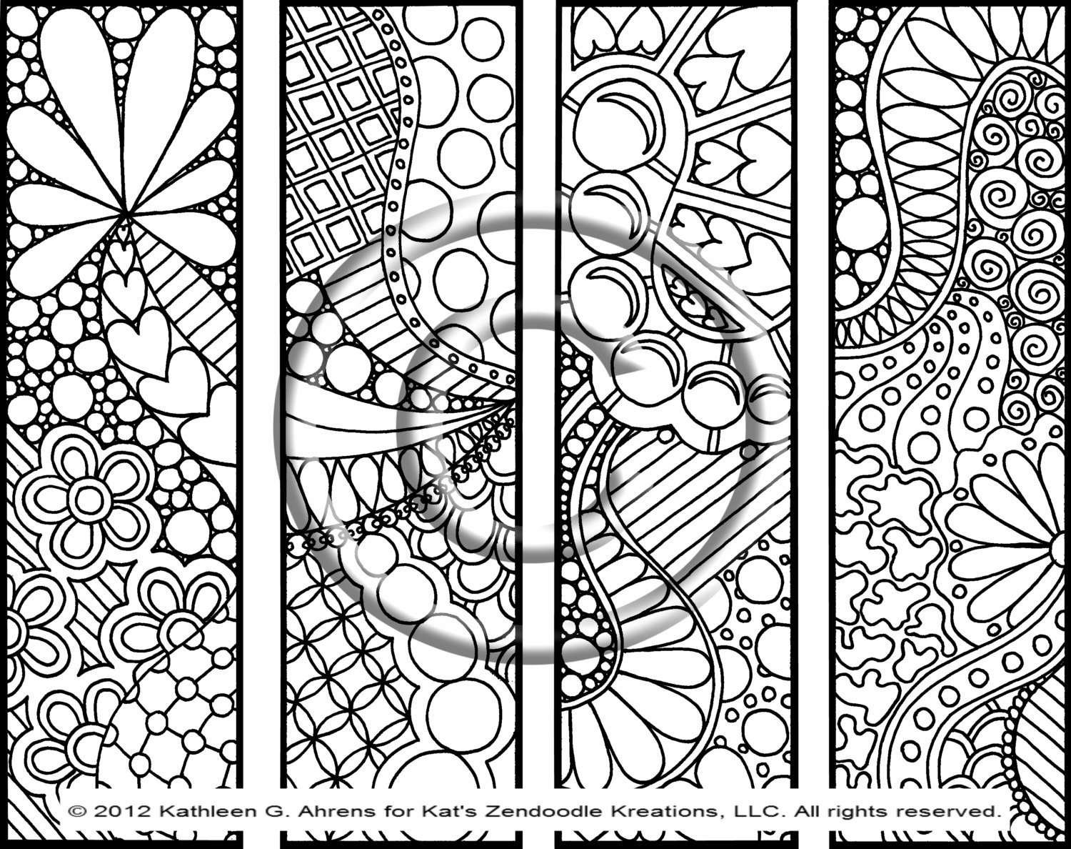 Abstract Heart Coloring Pages, Abstract Heart Patterns coloring page ...