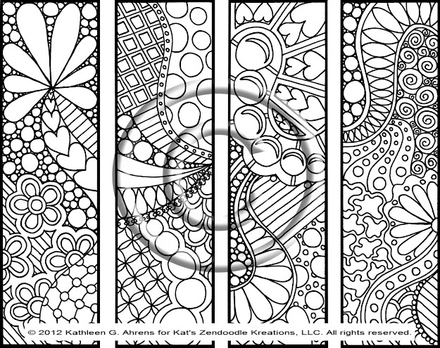 Abstract Heart Coloring Pages Instant Pdf Download Coloring