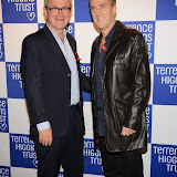 WWW.ENTSIMAGES.COM -  Harry Enfield and Angus Deayton    at   Terrence Higgins Trust's 'The Supper Club' after-party at Underglobe, Bankside London October 8th 2014This year's Supper Club in aid of  HIV and sexual health charity Terrence Higgins Trust. The Supper Club' is an annual foodie event where celebrities and Terrence Higgins Trust supporters invite their friends to dine with them at 50 of London's most iconic restaurants. On the night guests will be treated to an exquisite dinner, before being whisked away to a star-studded after-party, featuring cocktails, superb entertainment by British singer- song writer Chloe Howl, and dancing at the Underglobe.                                                Photo Mobis Photos/OIC 0203 174 1069