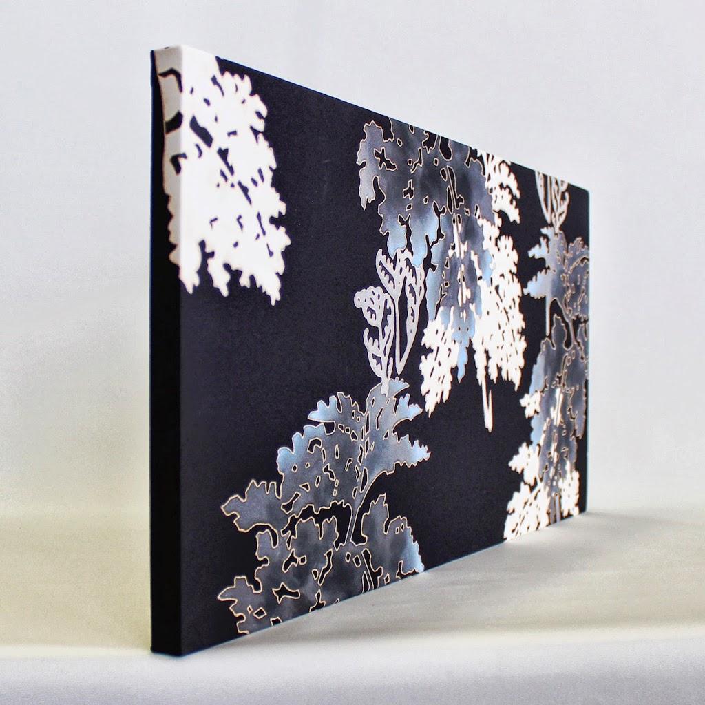 Hand-Painted Kimono Silk Panel Wide Shida (black)