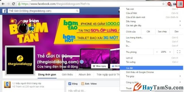 Chặng quảng cáo pop up hình 1