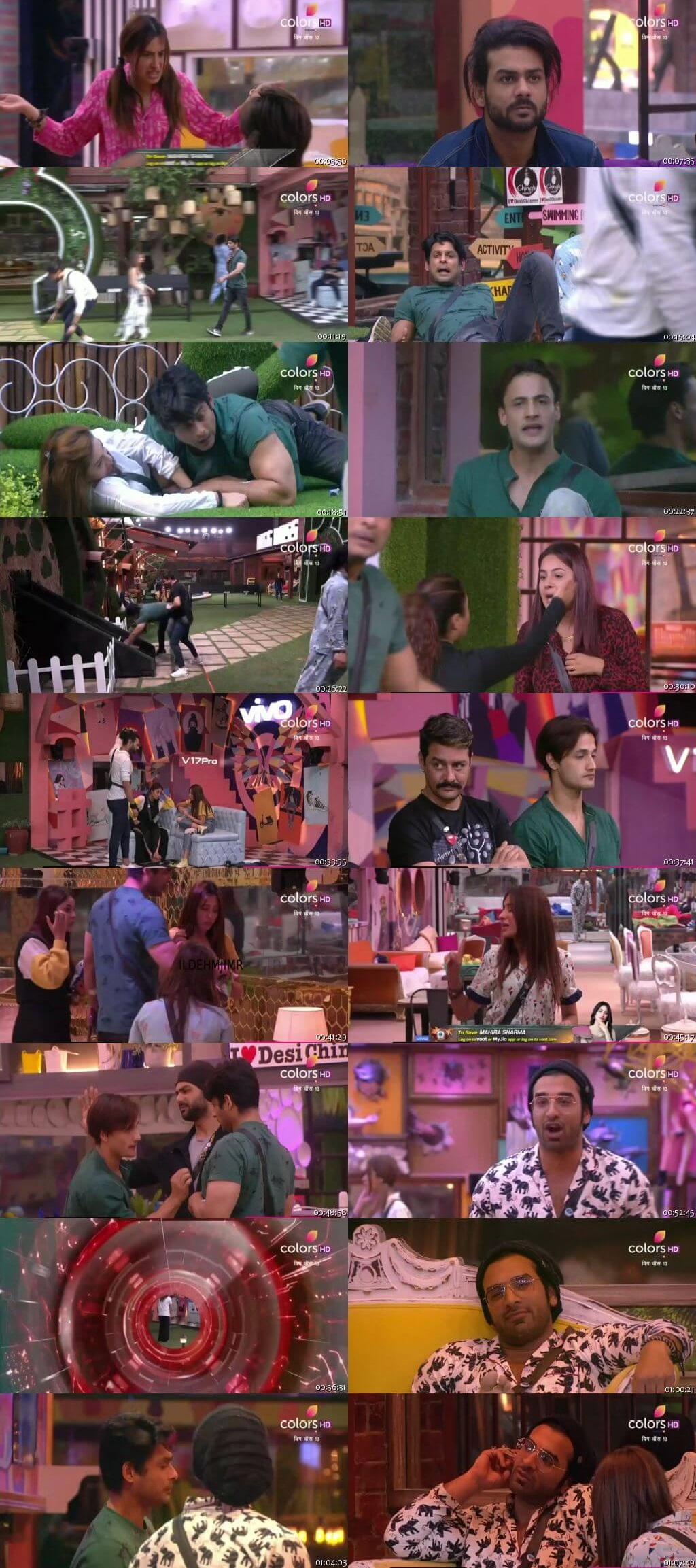 Screenshots Of Hindi Show Bigg Boss 13 28th November 2019 Episode 59 300MB 480P HD