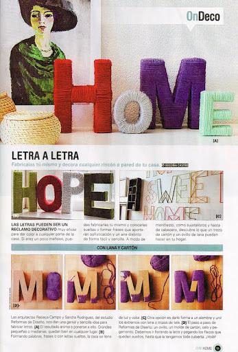 REFORMAS DE DISEÑO INTERIORISMO decorar con letras de lana DIY