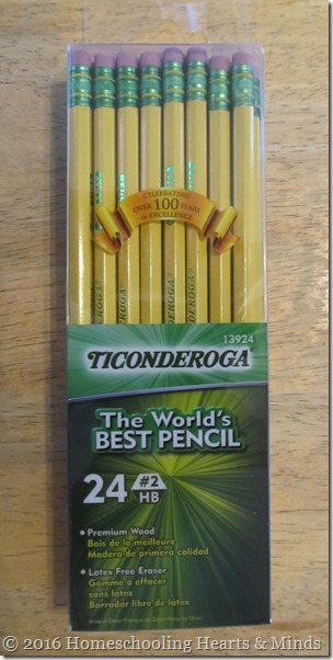 Ticonderoga yellow pencils