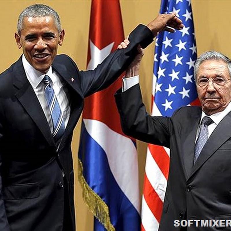 Похлопывая Кастро по плечу…