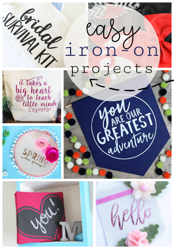 Easy Iron-on Projects with Cricut #madewithCricut