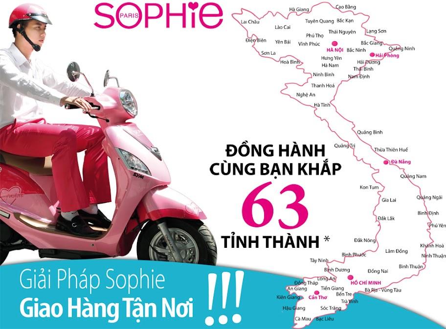 Dịch vụ giao hàng và thu tiền tận nhà Sophie