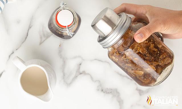 starbucks cinnamon dolce latte in a shaker