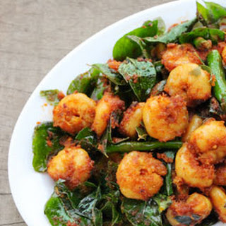 Prawns fry with Curry leaves.