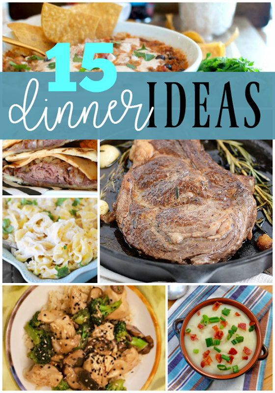 15 Dinner Ideas at GingerSnapCrafts.com #dinner #recipes
