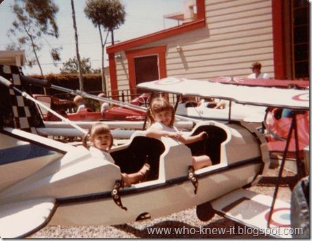 Erinn and Megan in plane 1980