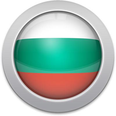 Bulgarian flag icon with a silver frame
