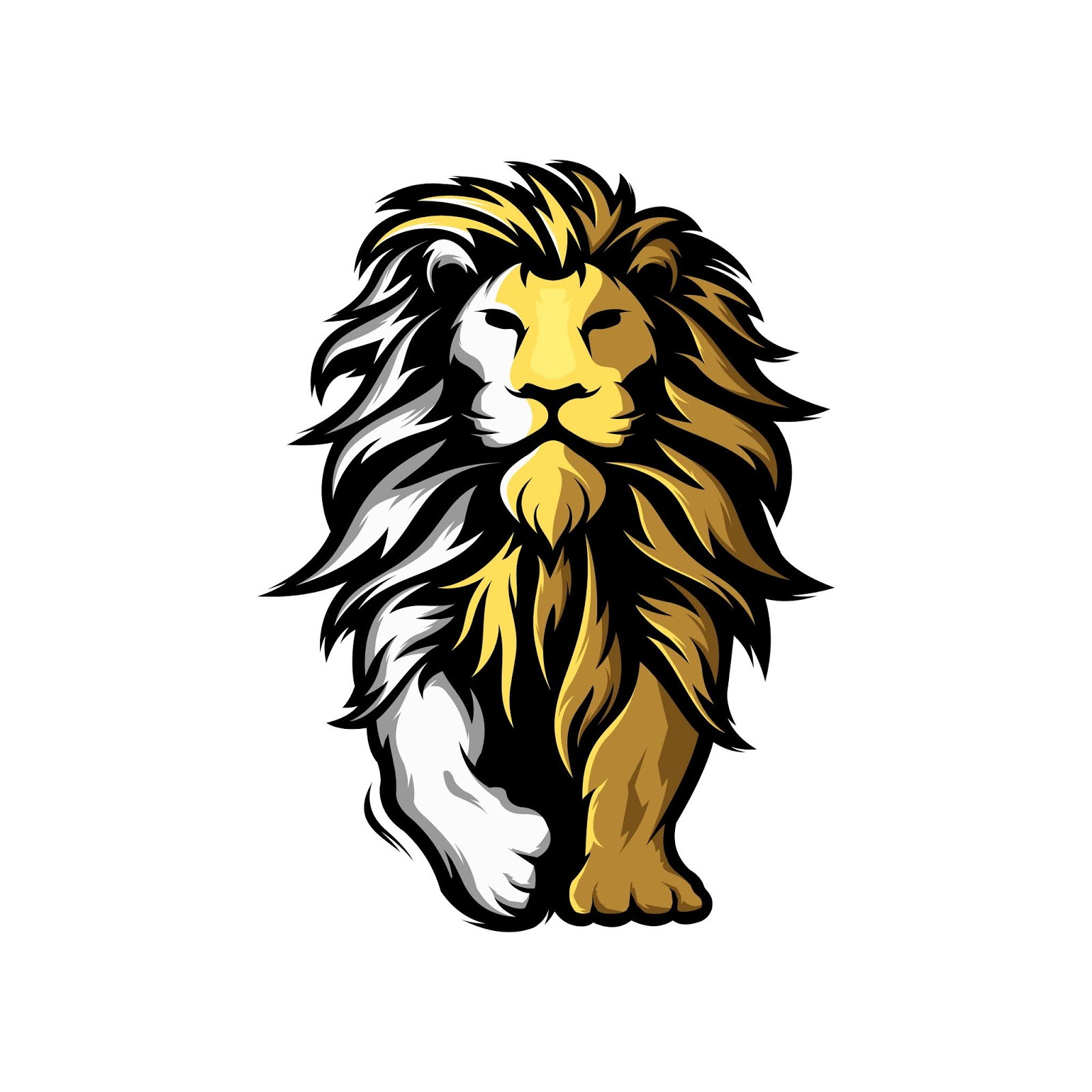 Awesome Mascot Lion Logo Free Download Vector CDR, AI, EPS and PNG Formats