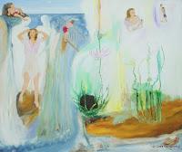 """""""Befreit"""", Öl auf Leinwand, Leder und plexiglas, 120x100, 2009"""
