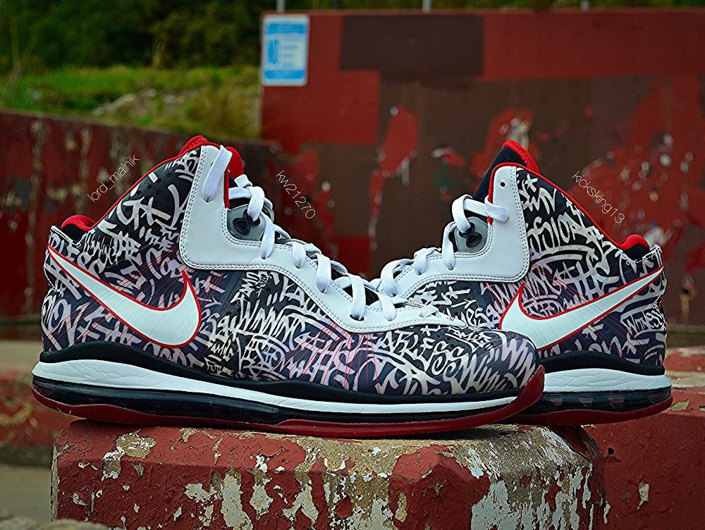 1890999fe43 PE Spotlight  Nike LeBron 8 V 2 NYC Graffiti PE