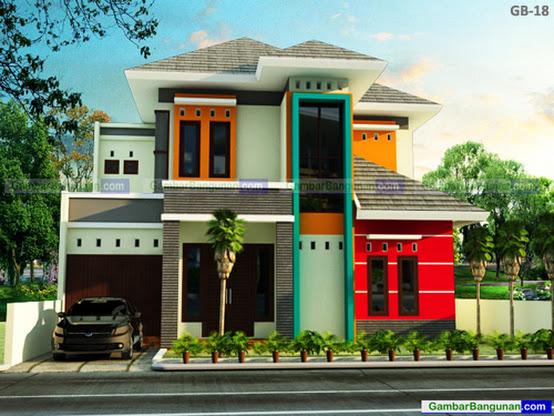 Desain rumah minimalis 2 lantai di wonogiri