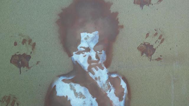 streetart Hamburg: Stencil in Planten un Blomen