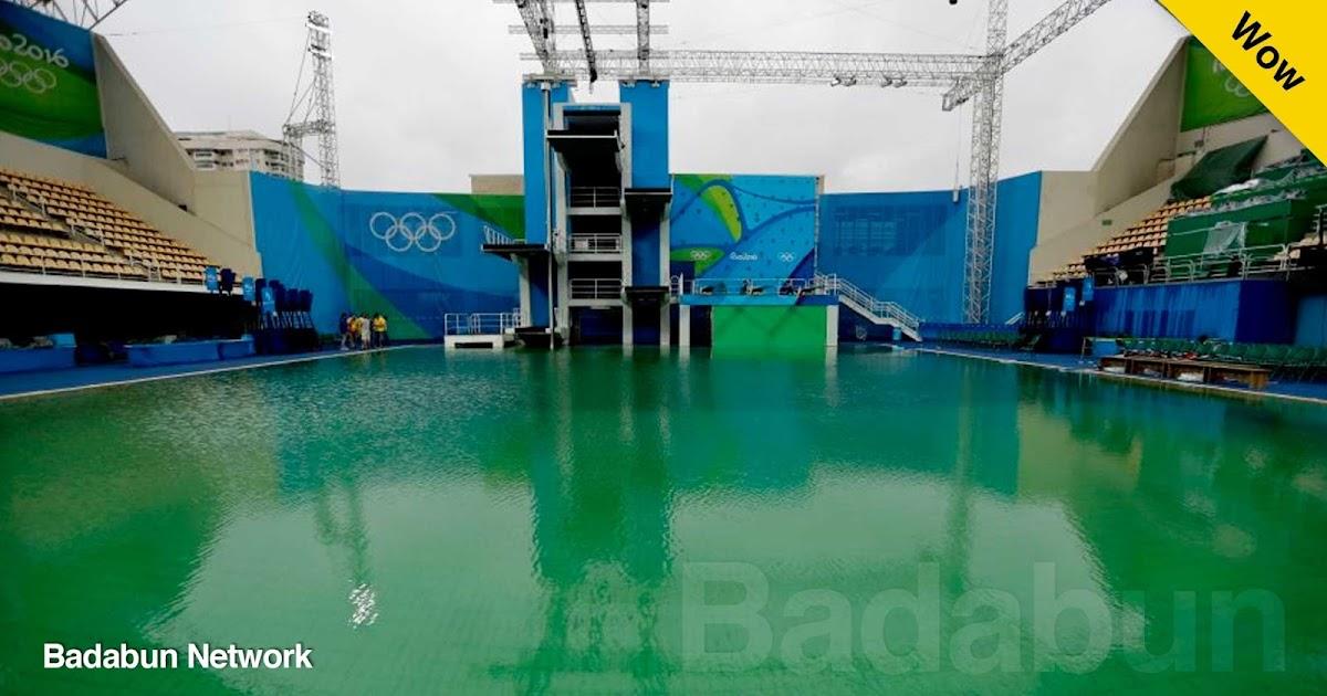 alberca verde juegos olímpicos rio 2016