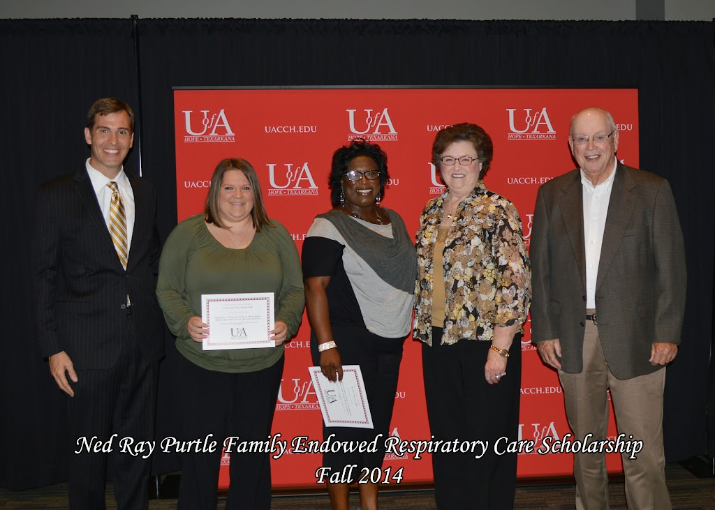 Scholarship Awards Ceremony Fall 2014 - Ned%2BRay%2BPurtle%2BRespiratory.jpg