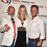 OIC - ENTSIMAGES.COM - Julian Bennett, Kimberly Wyatt and Nikos Liolios at the  2016 BLOCH Dance World Cup press launch in London 28th April 2016 Photo Mobis Photos/OIC 0203 174 1069