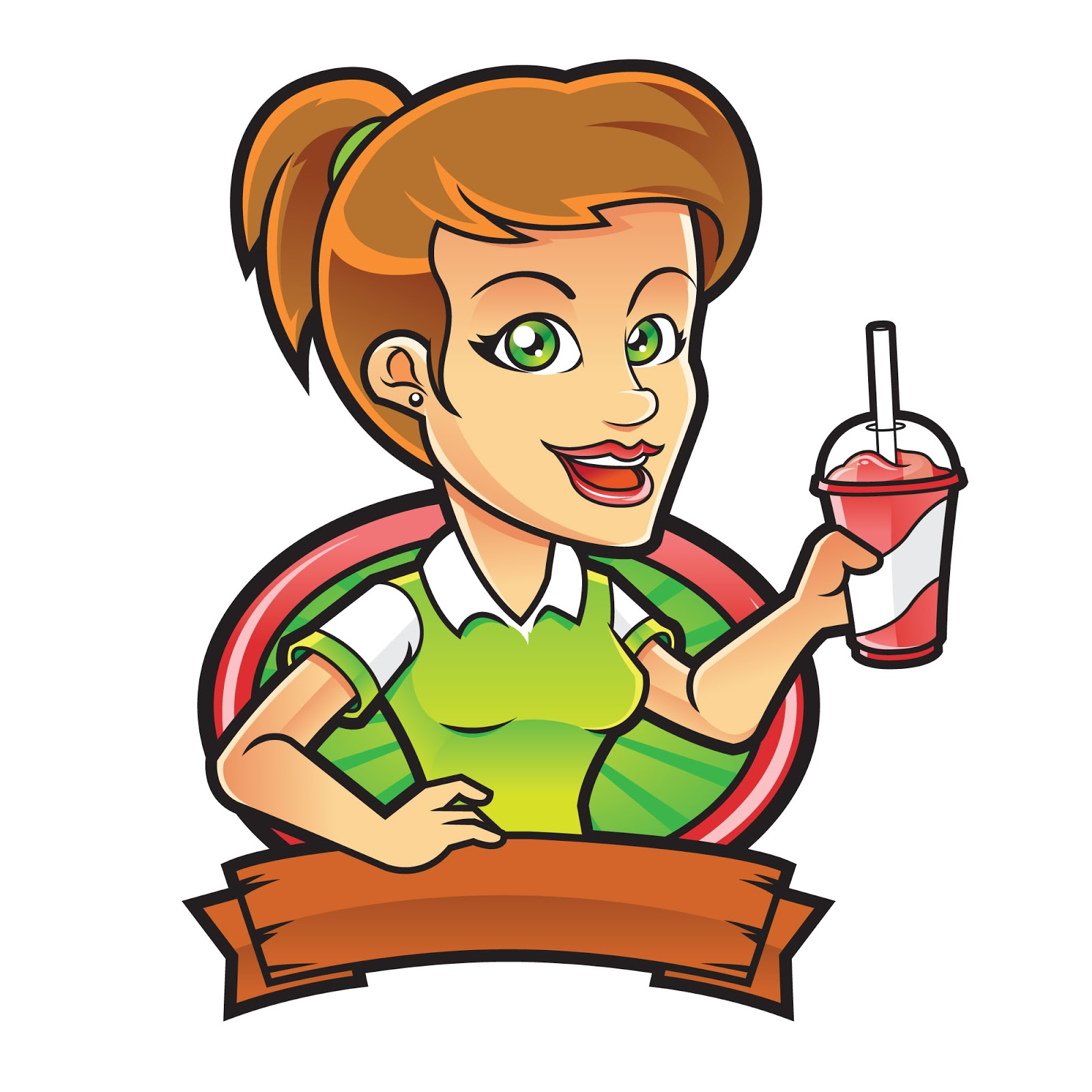 Girl With Smoothie Free Download Vector CDR, AI, EPS and PNG Formats