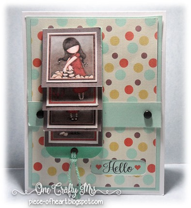 Gorjuss Girl-waterfall card_onecraftymrs