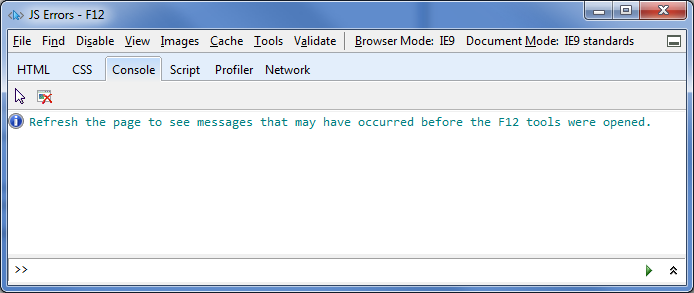 Viewing JavaScript Errors in Internet Explorer 9 - DZone Web Dev
